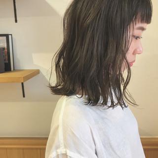 ハイライト ロブ 透明感 ボブ ヘアスタイルや髪型の写真・画像