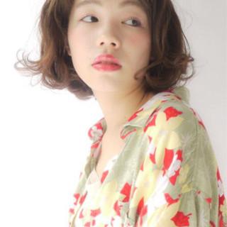 かわいい ナチュラル 外ハネ ボブ ヘアスタイルや髪型の写真・画像 ヘアスタイルや髪型の写真・画像