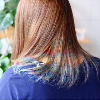 ダブルカラー カラフルカラー ストリート ハイトーン ヘアスタイルや髪型の写真・画像