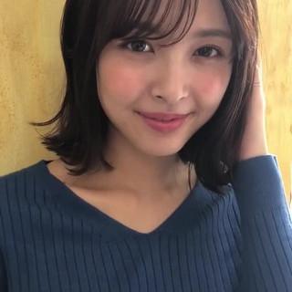 秋 女子力 抜け感 ミディアム ヘアスタイルや髪型の写真・画像