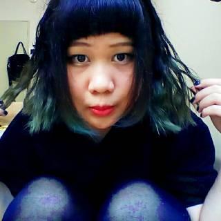 丸顔 黒髪 ゆるふわ グラデーションカラー ヘアスタイルや髪型の写真・画像 ヘアスタイルや髪型の写真・画像