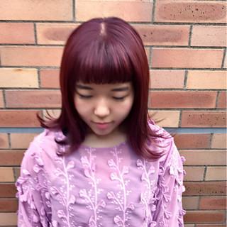 ボブ 外国人風カラー ガーリー ロブ ヘアスタイルや髪型の写真・画像
