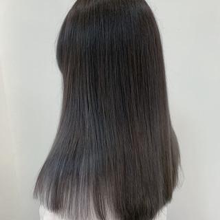 ストレート 透明感カラー ブリーチカラー ストリート ヘアスタイルや髪型の写真・画像