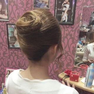 ナチュラル ロング 夜会巻 ヘアスタイルや髪型の写真・画像