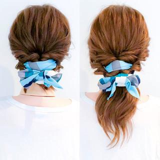 ヘアアレンジ オフィス ロング フェミニン ヘアスタイルや髪型の写真・画像