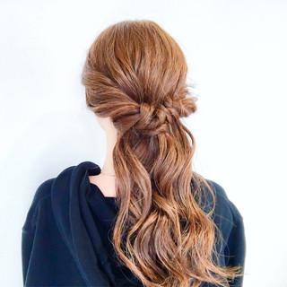 ロング フェミニン 愛され ヘアアレンジ ヘアスタイルや髪型の写真・画像