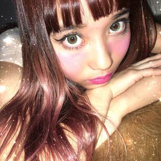 簡単ヘアアレンジ ガーリー グラデーションカラー 外国人風 ヘアスタイルや髪型の写真・画像