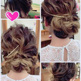 アンニュイ 女子会 フェミニン ミディアム ヘアスタイルや髪型の写真・画像