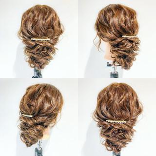 結婚式 大人女子 ねじり ヘアアレンジ ヘアスタイルや髪型の写真・画像