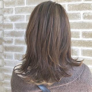 ハイライト ナチュラル ハイトーン ダブルカラー ヘアスタイルや髪型の写真・画像