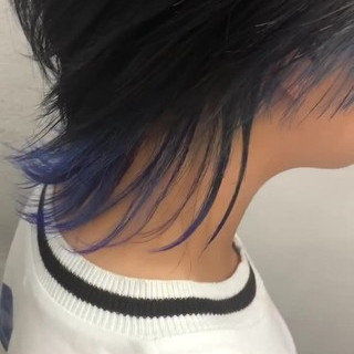 ショートヘア インナーカラー ウルフカット ストリート ヘアスタイルや髪型の写真・画像