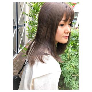 ウルフカット イルミナカラー 外国人風カラー セミロング ヘアスタイルや髪型の写真・画像