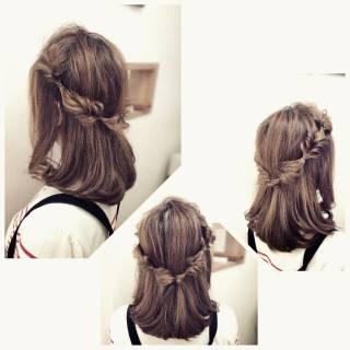 ナチュラル ロング パーティ アップスタイル ヘアスタイルや髪型の写真・画像
