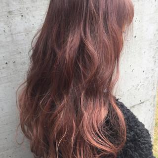 ハイライト グラデーションカラー ピンクアッシュ ピンク ヘアスタイルや髪型の写真・画像