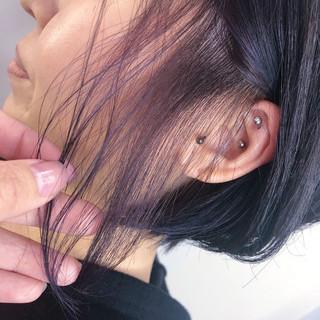ショート ガーリー ショートボブ ラベンダーピンク ヘアスタイルや髪型の写真・画像