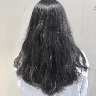 グラデーションカラー セミロング ウェーブ ゆるふわ ヘアスタイルや髪型の写真・画像