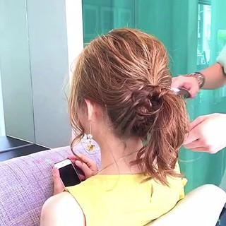 セミロング 女子会 簡単ヘアアレンジ 結婚式 ヘアスタイルや髪型の写真・画像