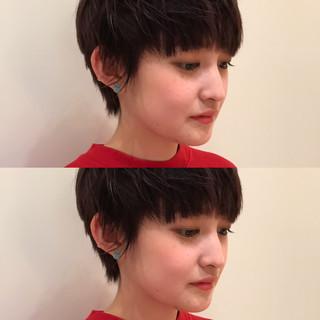 ショート ベリーショート ナチュラル デート ヘアスタイルや髪型の写真・画像 ヘアスタイルや髪型の写真・画像