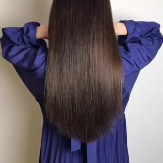 髪質改善トリートメント 縮毛矯正 デート ロング ヘアスタイルや髪型の写真・画像 ヘアスタイルや髪型の写真・画像