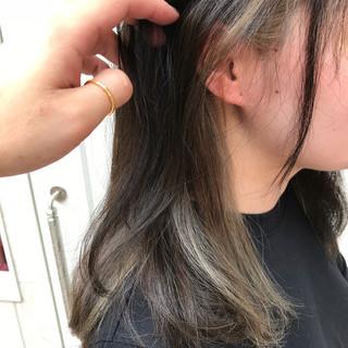 イルミナカラー ハイライト ナチュラル ロング ヘアスタイルや髪型の写真・画像