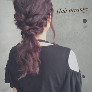 ヘアアレンジ 簡単ヘアアレンジ ハーフアップ フェミニン ヘアスタイルや髪型の写真・画像