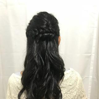 フェミニン 結婚式 ヘアアレンジ お呼ばれヘア ヘアスタイルや髪型の写真・画像