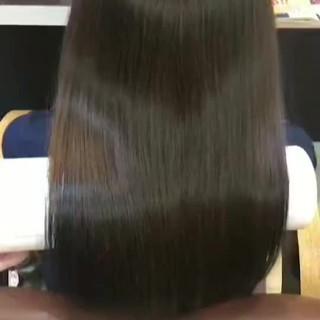 美髪 トリートメント 髪の病院 セミロング ヘアスタイルや髪型の写真・画像