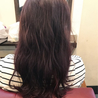 ラベンダーピンク グレージュ ラベンダー レッド ヘアスタイルや髪型の写真・画像