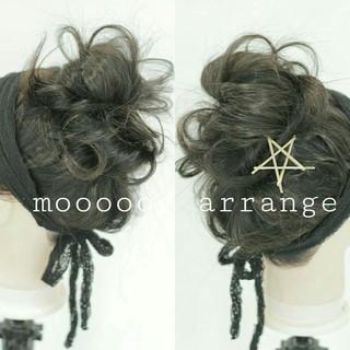 ヘアアレンジ ゆるふわ お団子 ショート ヘアスタイルや髪型の写真・画像