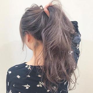 ウェーブ ロング アンニュイ ヘアアレンジ ヘアスタイルや髪型の写真・画像