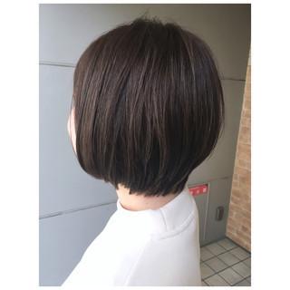 アッシュブラウン ショートボブ ショート ショートヘア ヘアスタイルや髪型の写真・画像