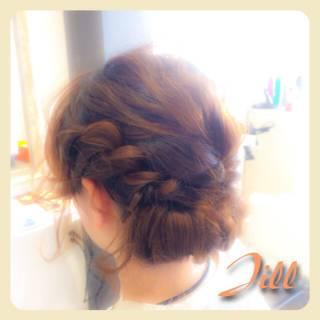 ねじり パーティ ヘアアレンジ 結婚式 ヘアスタイルや髪型の写真・画像