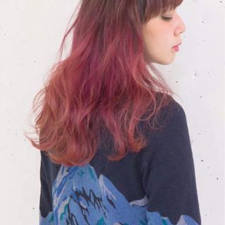 グラデーションカラー ストリート 大人女子 こなれ感 ヘアスタイルや髪型の写真・画像