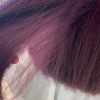 セミロング ストリート ハイトーン 派手髪 ヘアスタイルや髪型の写真・画像