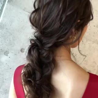 ナチュラル ロング ヘアアレンジ アンニュイほつれヘア ヘアスタイルや髪型の写真・画像