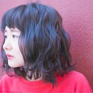 ボブ 暗髪 ローライト ハイライト ヘアスタイルや髪型の写真・画像