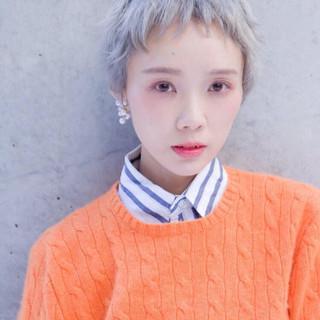ハイトーン 外国人風カラー ナチュラル ヘアアレンジ ヘアスタイルや髪型の写真・画像