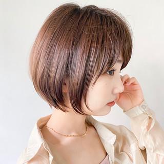 ショート 大人かわいい ショートボブ アウトドア ヘアスタイルや髪型の写真・画像
