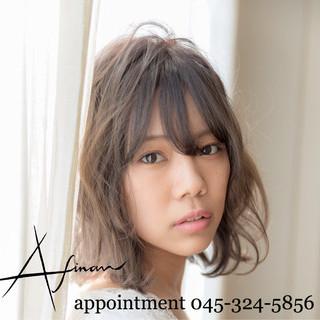 ミディアム デート ナチュラル ヘアアレンジ ヘアスタイルや髪型の写真・画像 ヘアスタイルや髪型の写真・画像