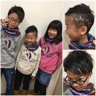 子供 ショート 坊主 エクステ ヘアスタイルや髪型の写真・画像