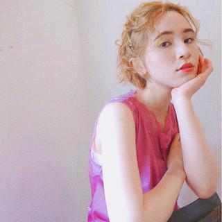 色気 ショート ヘアアレンジ アンニュイ ヘアスタイルや髪型の写真・画像