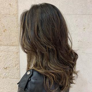 透け感ヘア ハイライト ヘアアレンジ モテ髪 ヘアスタイルや髪型の写真・画像