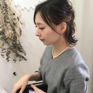 インナーカラー 結婚式 デート ヘアアレンジ ヘアスタイルや髪型の写真・画像 ヘアスタイルや髪型の写真・画像