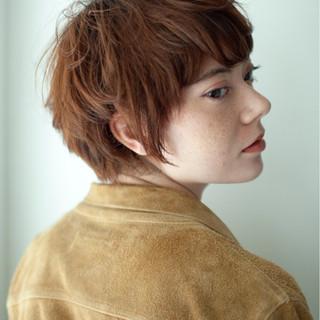 小顔 マッシュ 似合わせ ベリーショート ヘアスタイルや髪型の写真・画像