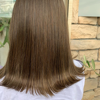 艶髪 ミディアム ナチュラル 簡単ヘアアレンジ ヘアスタイルや髪型の写真・画像