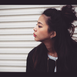 ハーフアップ お団子 ヘアアレンジ ロング ヘアスタイルや髪型の写真・画像