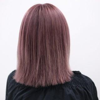 セミロング ロブ フェミニン ベージュ ヘアスタイルや髪型の写真・画像
