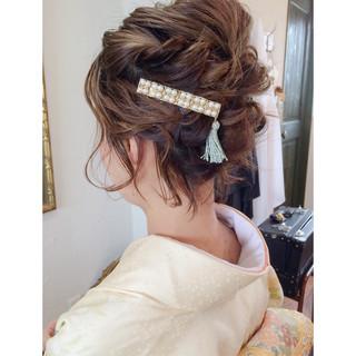 ヘアアレンジ ゆるふわ 大人かわいい 結婚式 ヘアスタイルや髪型の写真・画像