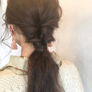 ナチュラル デート ロング ヘアアレンジ ヘアスタイルや髪型の写真・画像