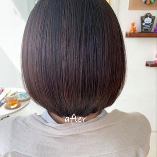 デート ボブ ミニボブ オフィス ヘアスタイルや髪型の写真・画像